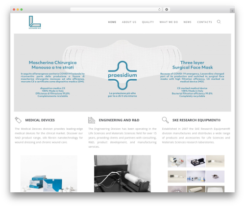 WordPress website template Wp Haswell - leonardino.eu