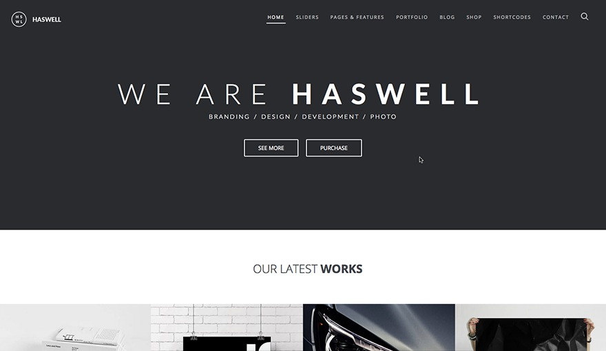 WordPress website template Wp Haswell