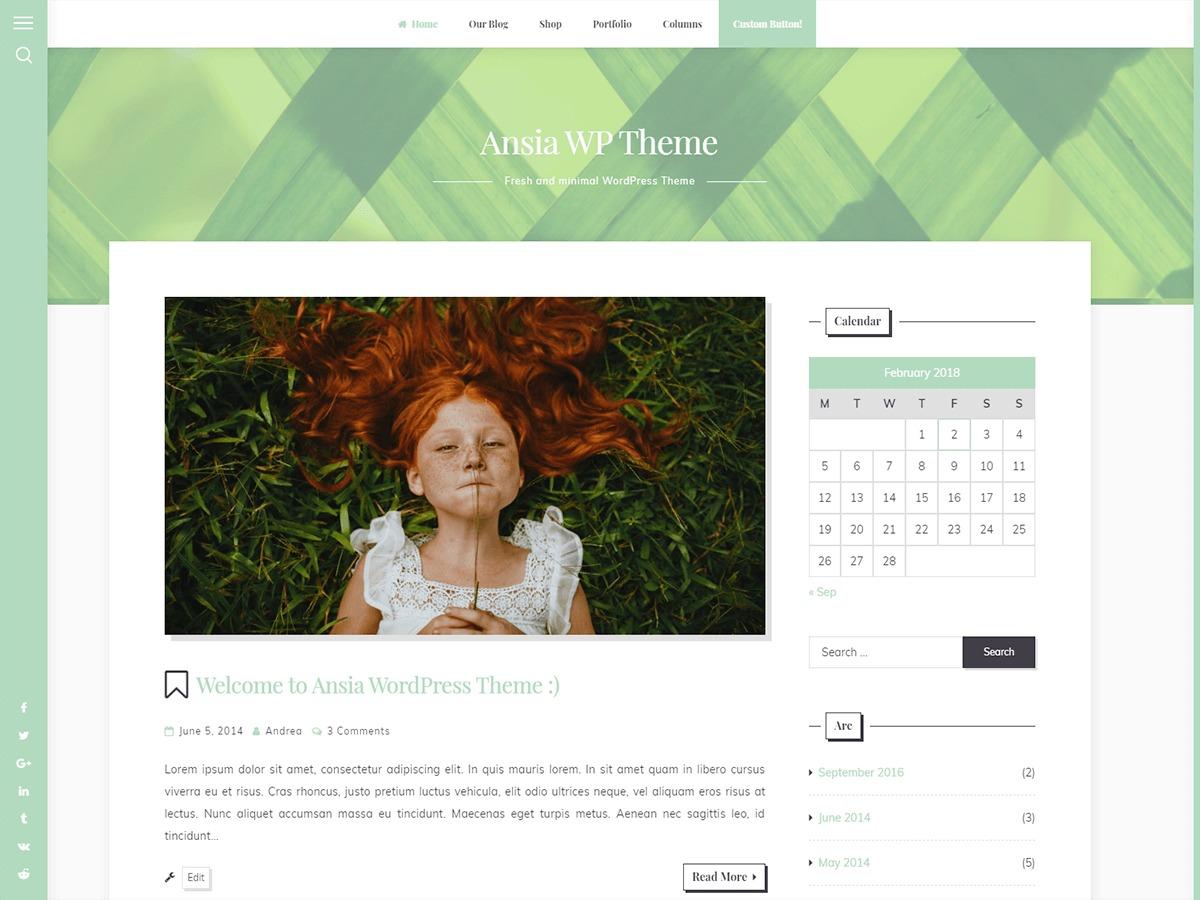 Ansia WordPress ecommerce theme