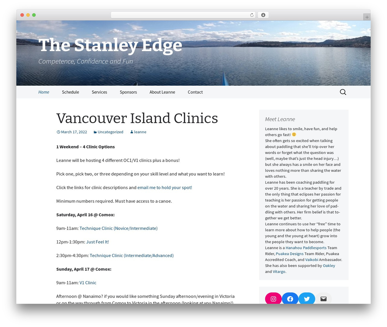 Best WordPress template 2013 Blue - leannestanley.com