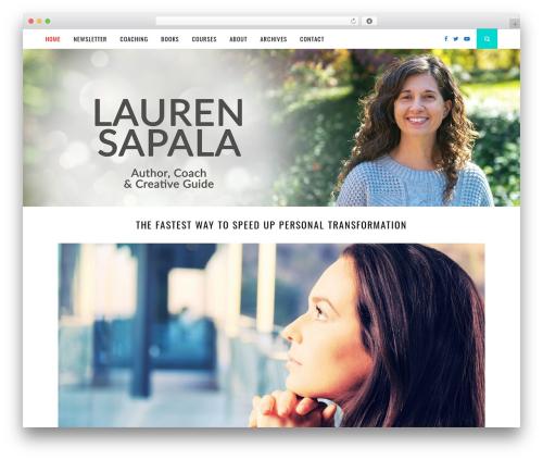 Florence top WordPress theme - laurensapala.com