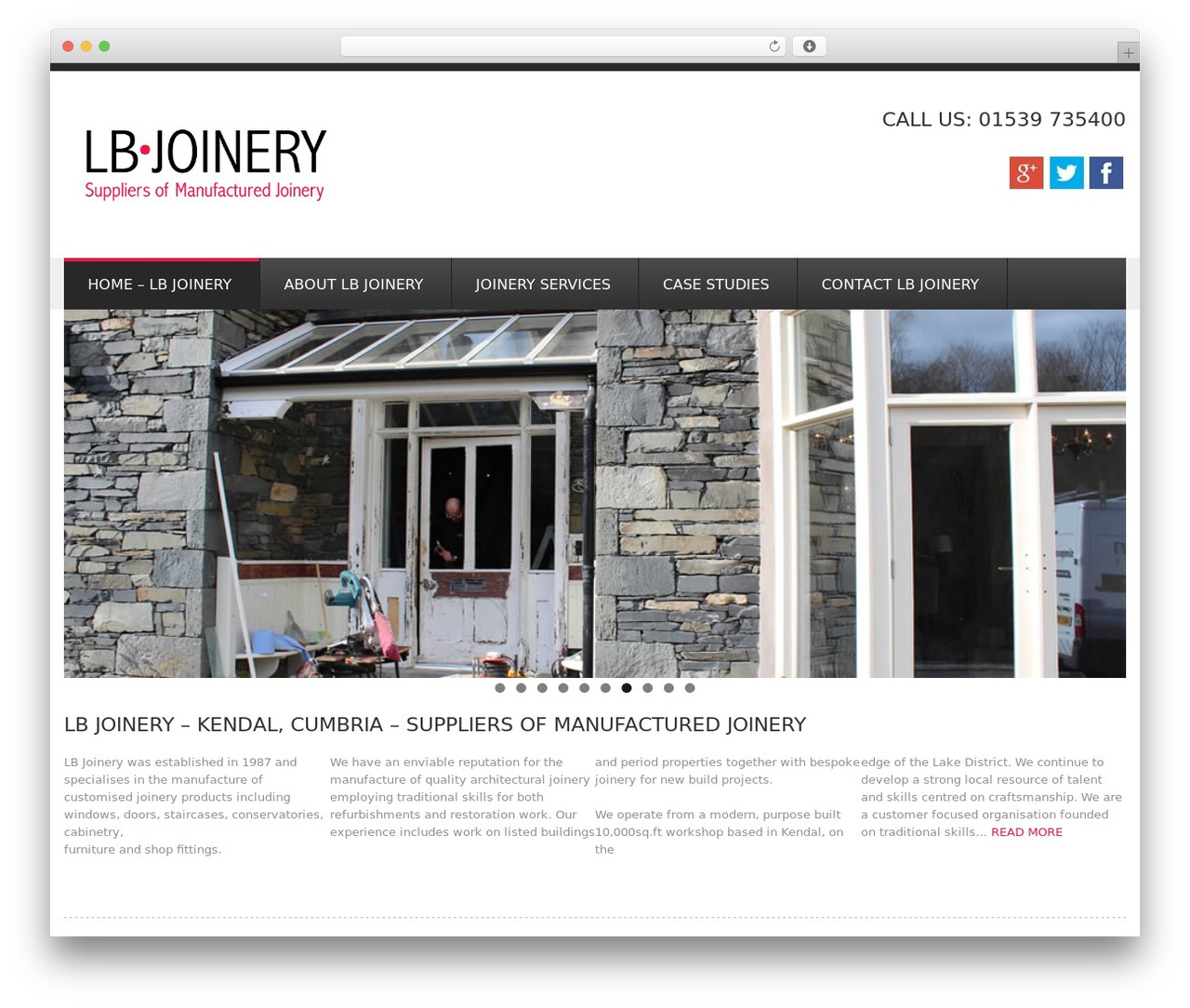 GoodSimple WordPress template - lbjoinery.co.uk