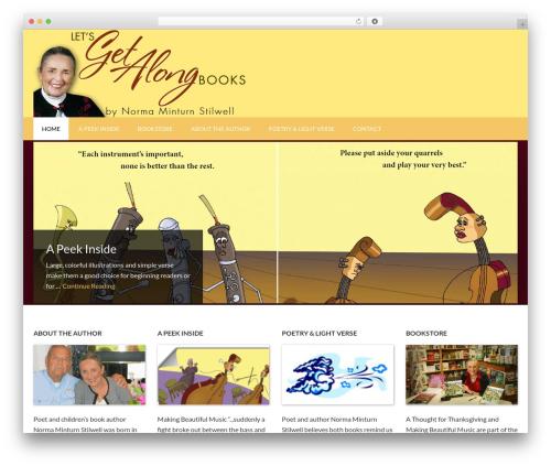 Outreach Pro WordPress website template - letsgetalongbooks.com