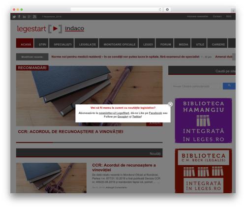 RapidNews WordPress magazine theme - legestart.ro
