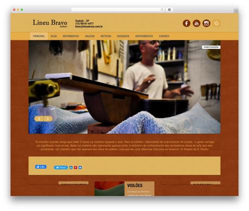 Template WordPress Barcelona - lineubravo.com.br