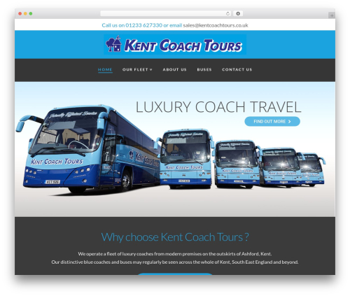 WordPress template X - kentcoachtours.co.uk