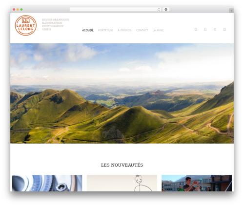 WP Omnia template WordPress - laurentlelong.com