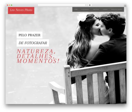 WP theme Persuasion - leonevesphoto.com.br