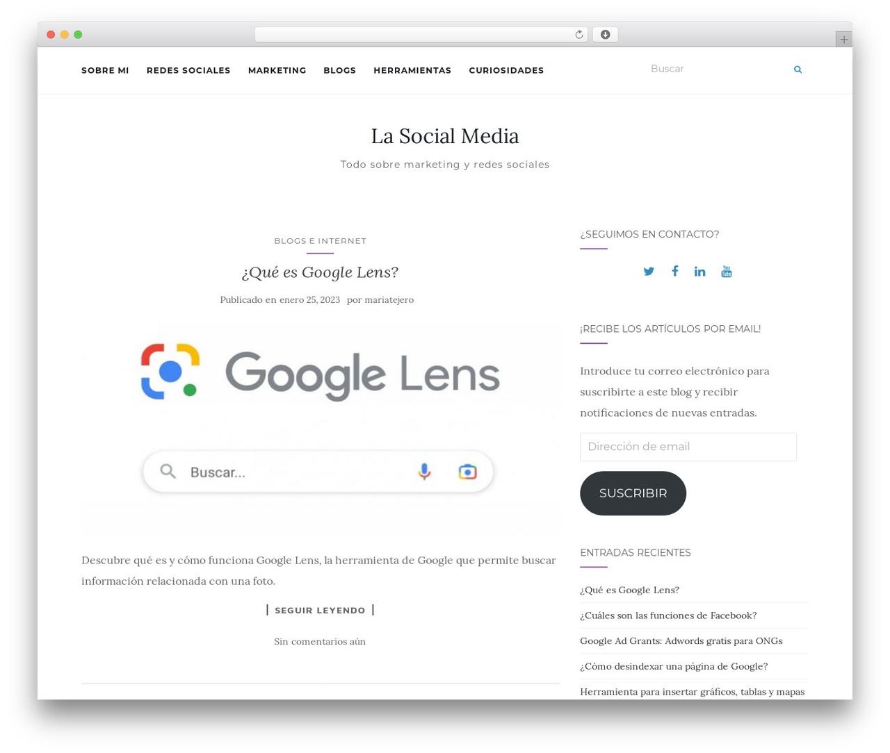 Activello best free WordPress theme - lasocialmedia.es