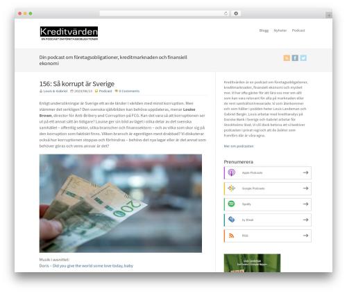 Best WordPress template WP-Brilliance - kreditvarden.se