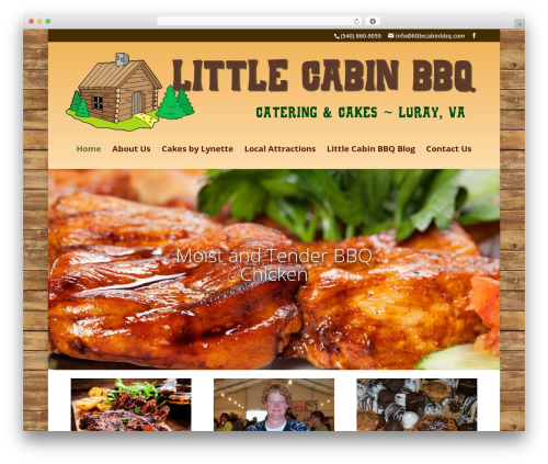 Divi food WordPress theme - littlecabinbbq.com