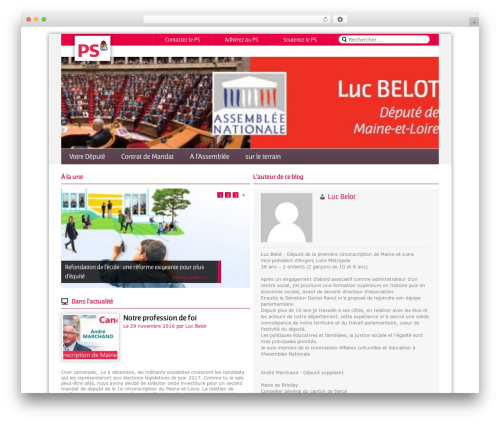 Magazine WordPress news theme - lucbelot.parti-socialiste.fr