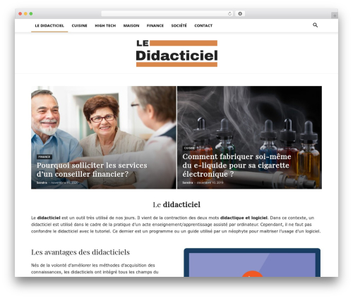 Newspaper newspaper WordPress theme - le-didacticiel.com