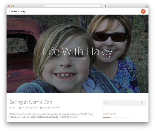 Smallblog template WordPress free - lifewithhaley.com