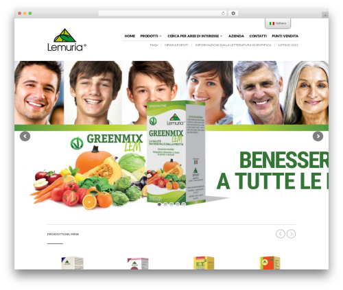 The Retailer WordPress website template - lemuria.it
