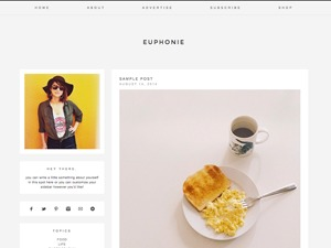 WordPress theme euphonie