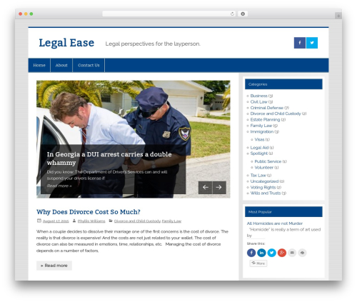 WordPress theme Smartline - legal-ease.info