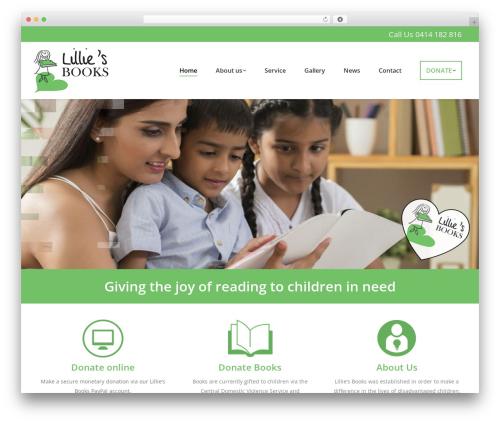 WordPress theme The7 - lilliesbooks.org