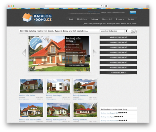 WordPress website template On Demand - katalog-domu.cz