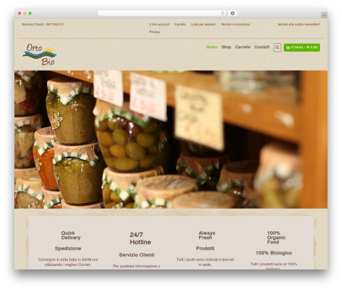 WordPress website template Organic Web Shop - lortobio.it