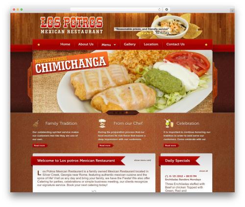 Bordeaux Premium Theme theme WordPress - lospotrosmexican.com