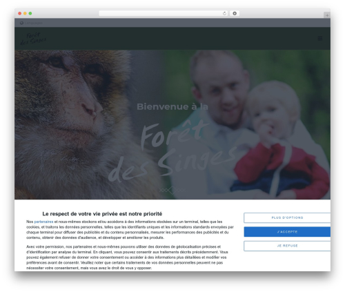 Jupiter premium WordPress theme - la-foret-des-singes.com
