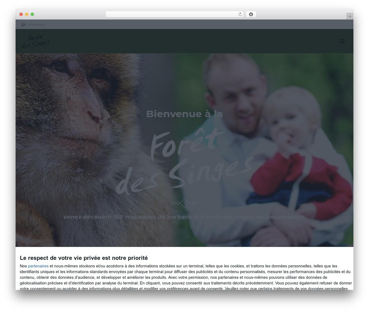 jupiter premium WordPress theme - la-foret-des-singes.com