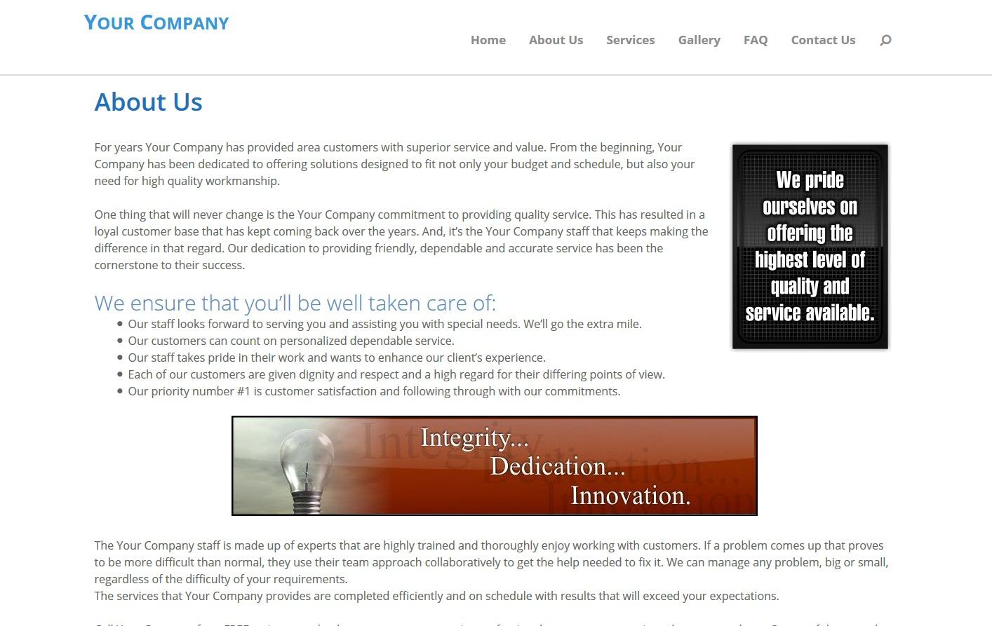 MWS Stacked template WordPress