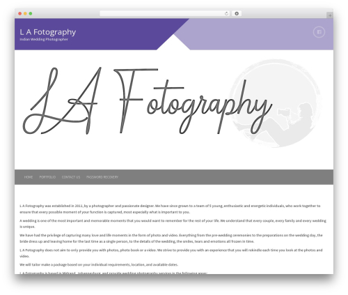 Plum free WordPress theme - lafotography.co.za