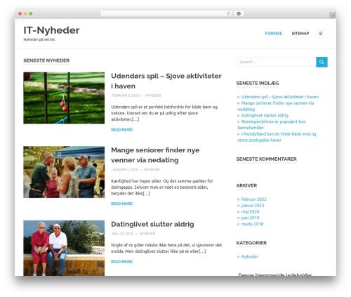 Poseidon WordPress template free - laika-it.dk