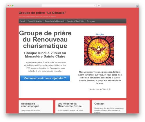 Responsive free WP theme - lecenacle.fr