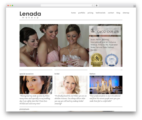 Smart Theme WordPress wedding theme - lenadamakeup.com