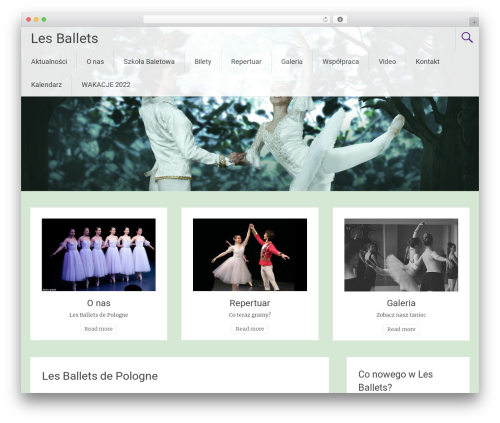 Theme WordPress Radiate - lesballets.pl/les-ballets-de-pologne