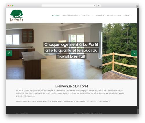 WordPress template Salient - laforetstjerome.com