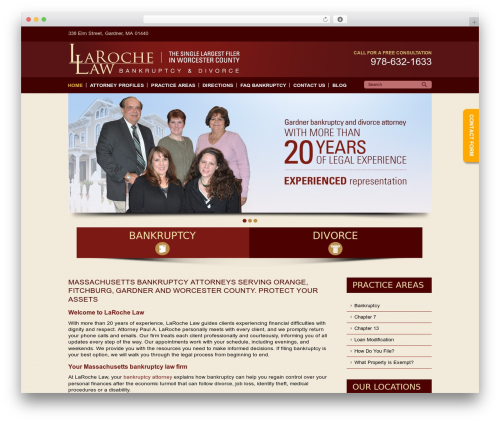 WordPress theme LaRoche Law - larochelaw.com