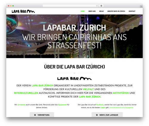 WP theme Corsa (shared on wplocker.com) - lapa-bar.ch