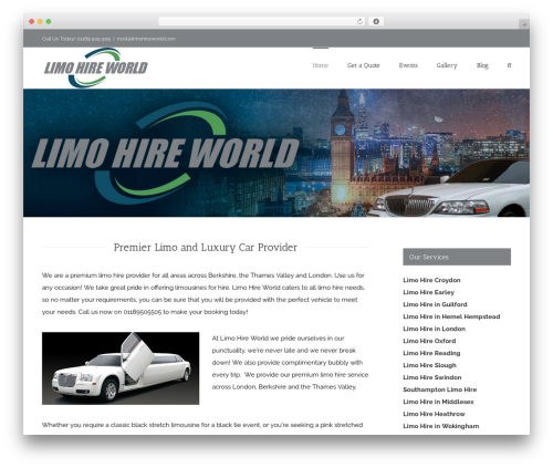 Avada WordPress theme - limohireworld.com