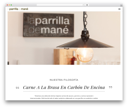 Awe-Ambrosia best restaurant WordPress theme - laparrillademane.com