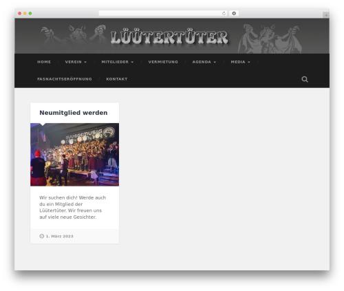 Baskerville WordPress theme design - lueuetertueter.ch