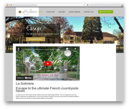 Hotec premium WordPress theme - lasoliniere.com