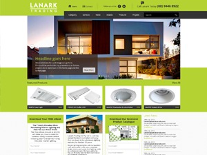 Lanark WordPress website template