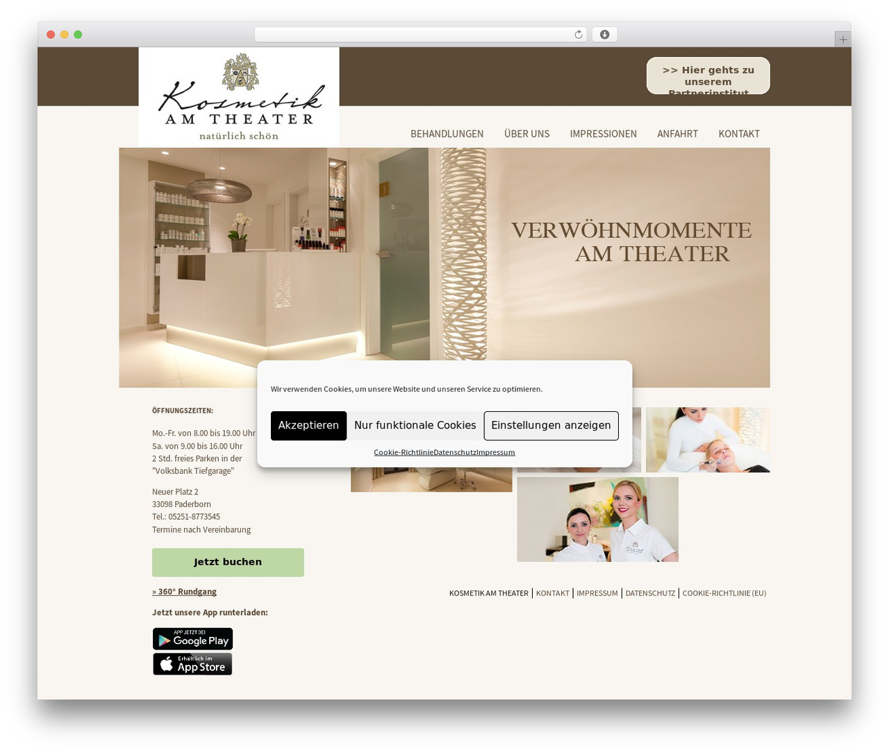 Silberweiss WordPress theme - kosmetik-natuerlich-schoen.de