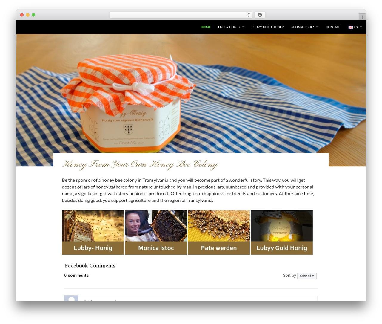 Twenty Fourteen free WordPress theme - lubyy-honig.com