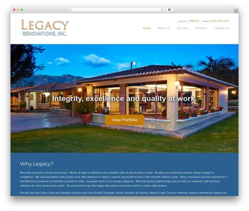 WP theme Construction - legacy-renovations.com