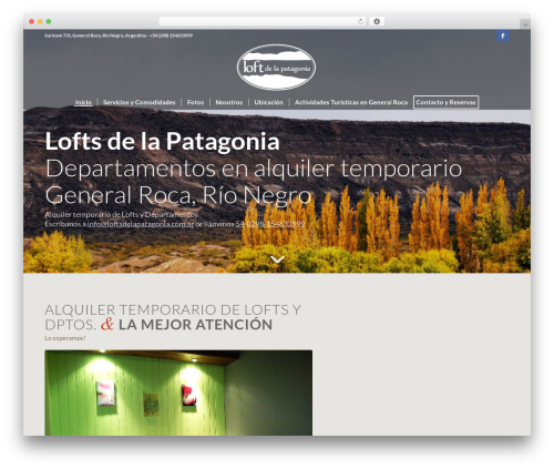 Best WordPress template Loft - loftsdelapatagonia.com.ar