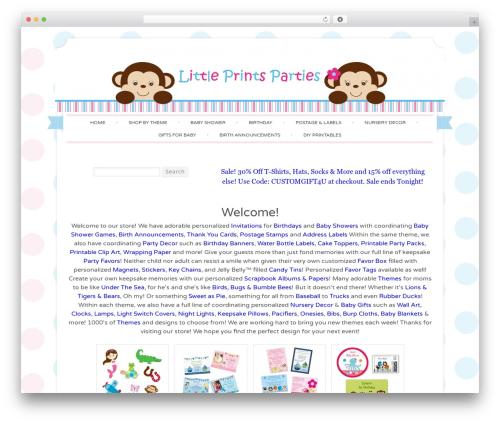 Best WordPress template sugar and spice child - littleprintsparties.com