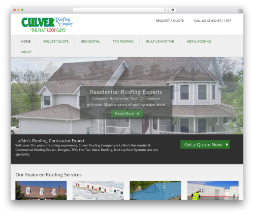 Caroline WordPress theme - lufkinroofing.com