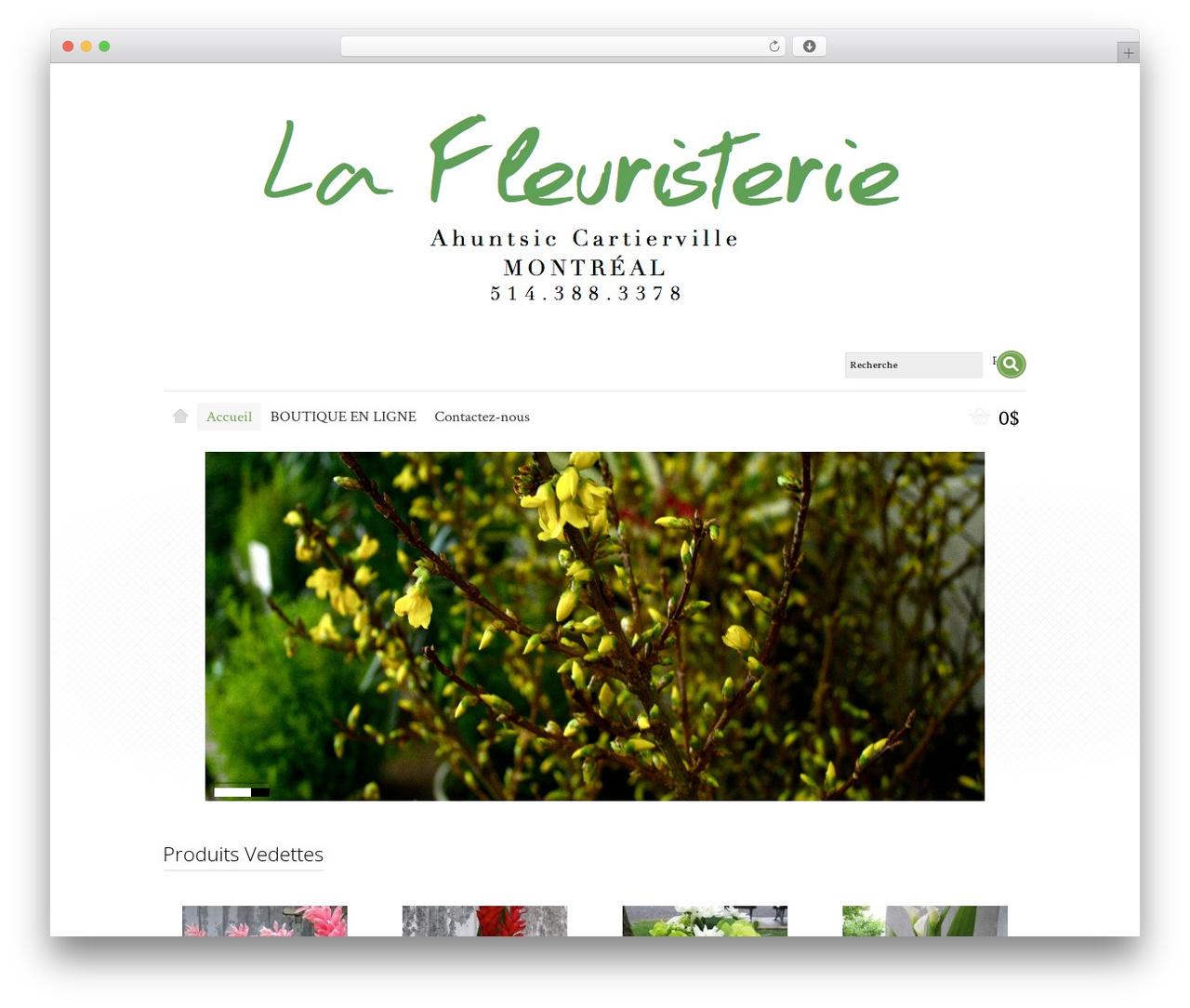 Shoppica best WooCommerce theme - lafleuristerie.ca