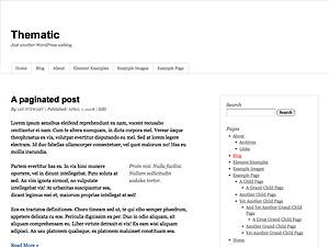 Thematic custom WordPress blog template