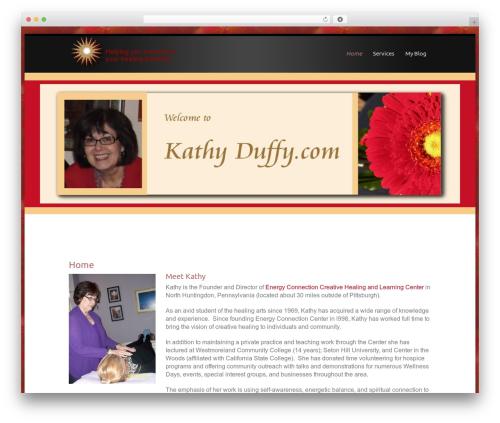 WordPress template Encounters - kathyduffy.com
